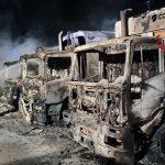 I camion dei rifiuti dati alle fiamme, allarme nella zona industriale di Dorgali