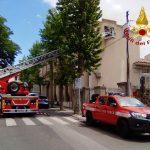 Colombi imprigionati in un sottotetto a Nuoro, liberati dai Vigili del fuoco
