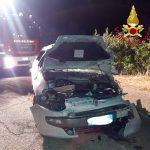 Auto si ribalta alla periferia di Gairo, 42enne grave in ospedale