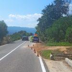 Messa in sicurezza la strada alla periferia di Posada danneggiata dalle forti piogge